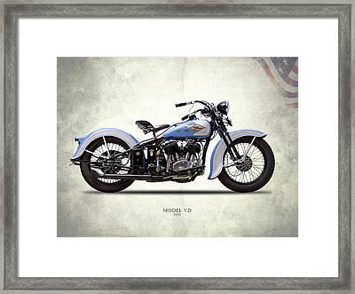 Harley Model Vd 1935 Framed Print