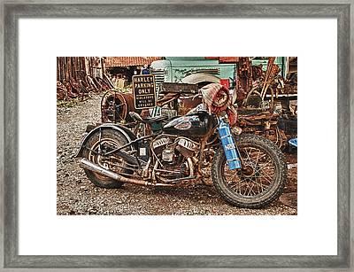 Harley Parking Only Framed Print