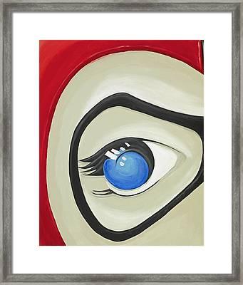 Harley Quinn Eye Framed Print