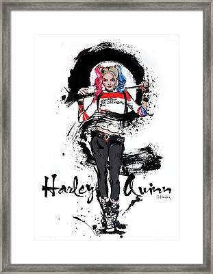 Harley Quinn Framed Print by Haze Long