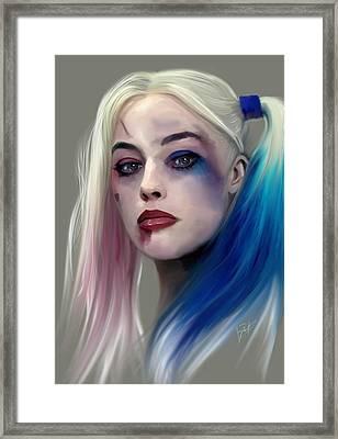 Harley Quinn Framed Print by Jason Longstreet