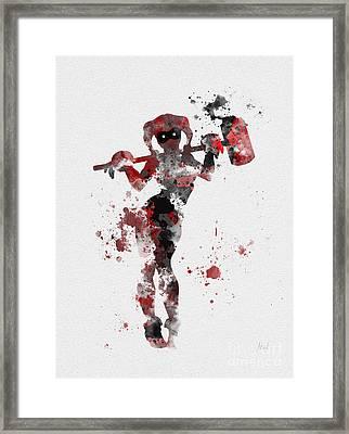 Harley Quinn Framed Print by Rebecca Jenkins