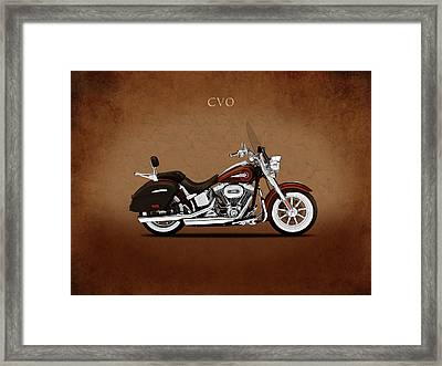 Harley Softail Deluxe Framed Print by Mark Rogan