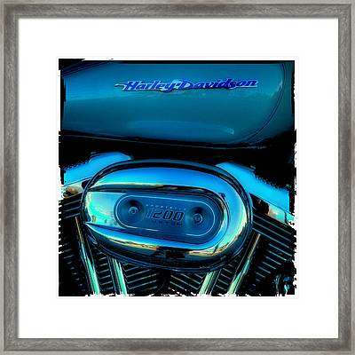 Harley Sportster 1200 Framed Print by David Patterson