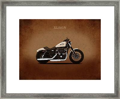 Harley Sportster Iron Framed Print by Mark Rogan