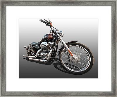 Harley Sportster Xl1200 Custom Framed Print