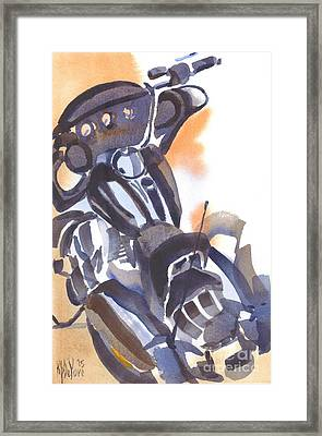 Motorcycle Iv Framed Print by Kip DeVore
