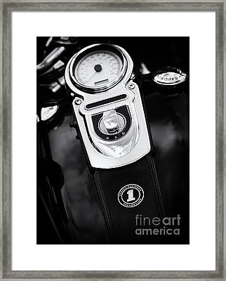 Harley Superglide Framed Print by Tim Gainey