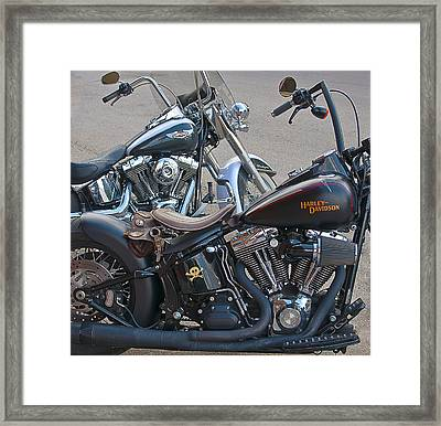 Harleys Framed Print