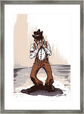 Harmonica Framed Print by Tobey Anderson