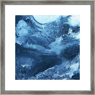 Harmonious Blues- Art By Linda Woods Framed Print