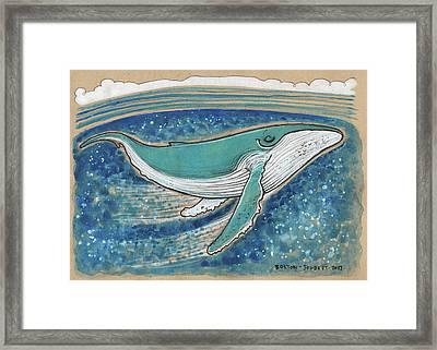 Harmonious Humpback Whale Framed Print by Maria Bolton-Joubert