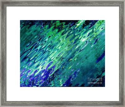 Harmonious Vibrations Framed Print by Sandra Gallegos