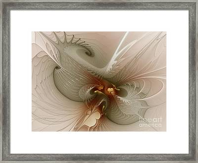 Framed Print featuring the digital art Harmonius Coexistence by Karin Kuhlmann