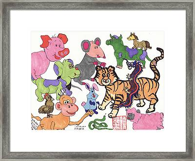 Harmony 1of2 Framed Print by Golden Dragon
