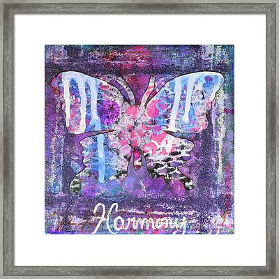 Harmony Butterfly Framed Print