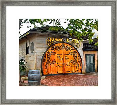Framed Print featuring the photograph Harmony Chapel Harmony California by Barbara Snyder