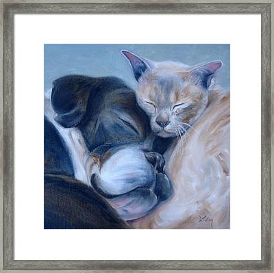 Framed Print featuring the painting Harmony by Donna Tuten