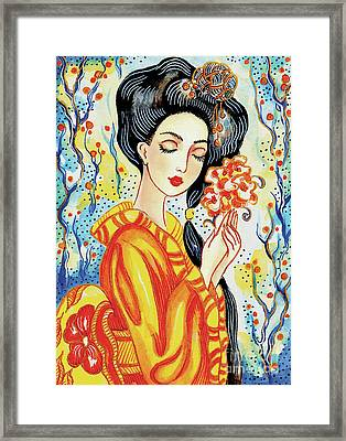 Framed Print featuring the painting Harmony by Eva Campbell