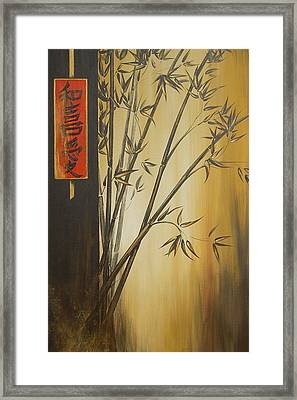 Framed Print featuring the painting Harmony Happiness And Love by Dina Dargo