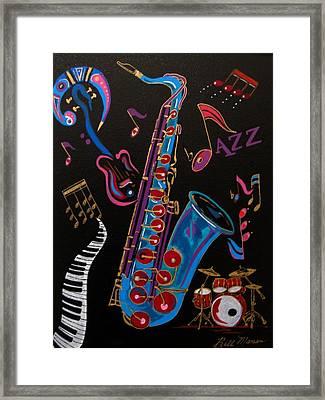 Harmony In Jazz Framed Print