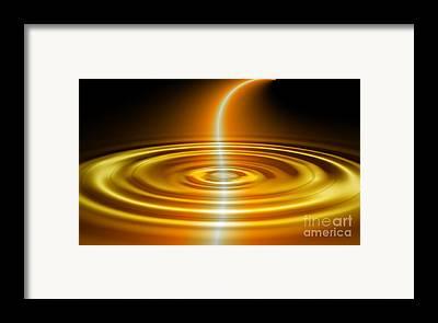 Tanz Wasser Digitale Kunst Framed Prints