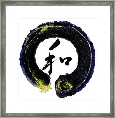 Harmony - Peace With Enso Framed Print