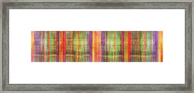 Harmony Stripes Framed Print by Ab Stract