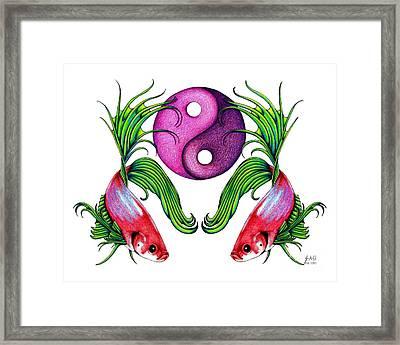 Harmony Together Framed Print by Sheryl Unwin