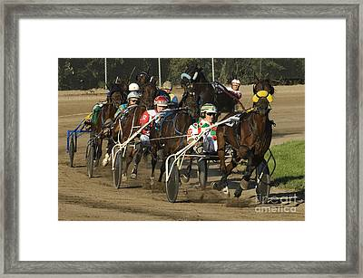 Harness Racing 9 Framed Print by Bob Christopher