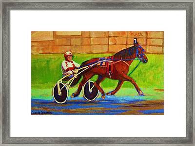 Harness Racing At Bluebonnets Framed Print by Carole Spandau