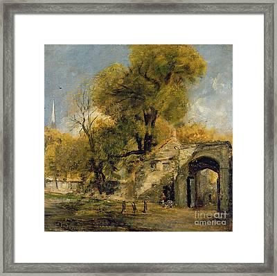 Harnham Gate - Salisbury Framed Print