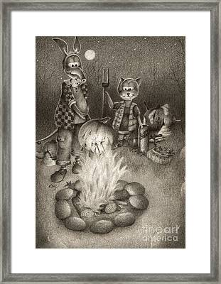 Harold And Friends Autumn Framed Print by Emily Wickerham