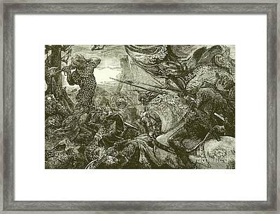 Harold At The Battle Of Hastings  Framed Print