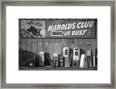Harold's Club Framed Print