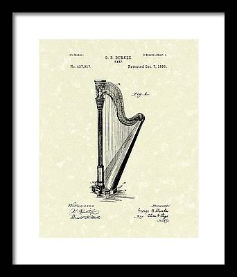 Harp Framed Prints