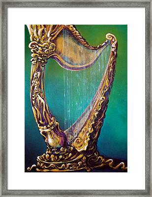 Framed Print featuring the painting Harp by Kevin Middleton