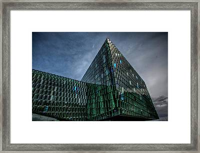Harpa Framed Print by Wade Courtney