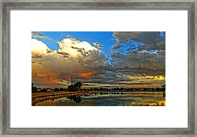 Framed Print featuring the photograph Harper Lake by Eric Dee