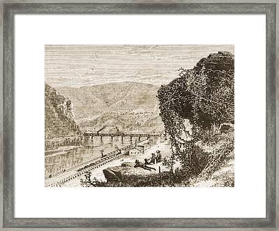 Harpers Ferry Circa 1870s. From Framed Print