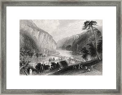 Harpers Ferry From The Potomac Side Framed Print