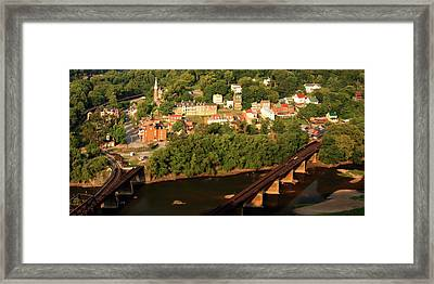 Framed Print featuring the photograph Harpers Ferry by Mitch Cat