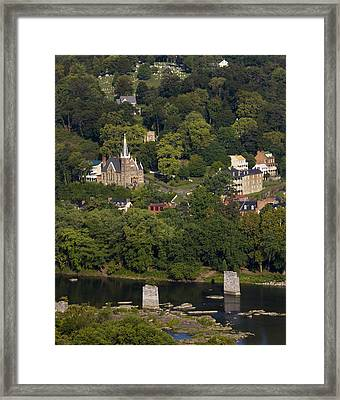 Harpers Ferry West Virginia On The Banks Of The Shenandoah And Potomac Rivers Framed Print by Brendan Reals
