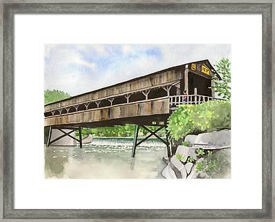 Harpersfield Bridge Framed Print