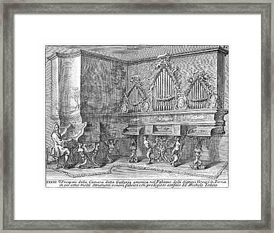 Harpsichord & Spinets, 1723 Framed Print