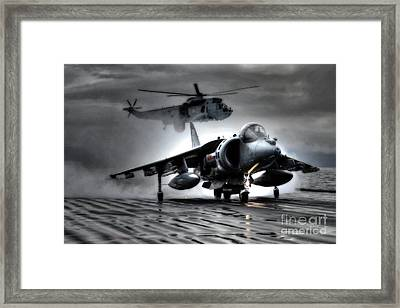Harrier And Sea King Framed Print