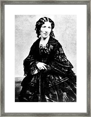 Harriet Beecher Stowe, Ca.1800s Framed Print