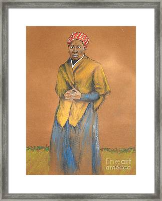 Harriet, Hero -- Portrait Of Harriet Tubman Framed Print