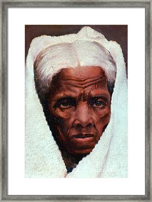 Harriet Tubman, African-american Framed Print by Photo Researchers