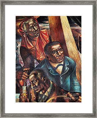 Harriet Tubman, Booker Washington Framed Print by Photo Researchers